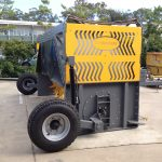 side view of a compost turner | EZ Machinery