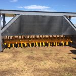 rear view of compost turner drum