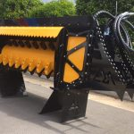 yellow and black fixed flail mulcher | EZ Machinery