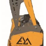side view of skid steer mulcher | EZ Machinery