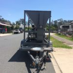front view of mobile bagging machine