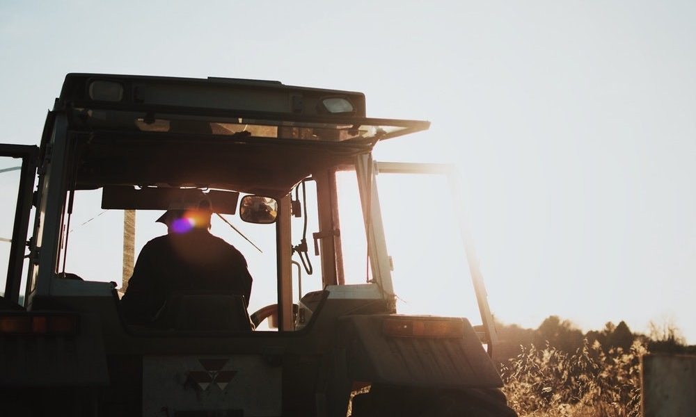 Tractor in Glaring Australian Sun