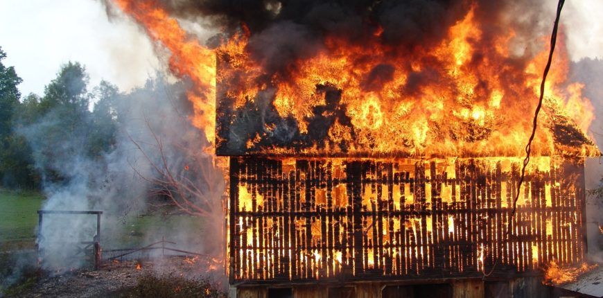 barn on fire | EZ Machinery